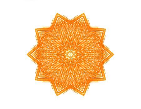 felt tip: Abstract orange star shape for design