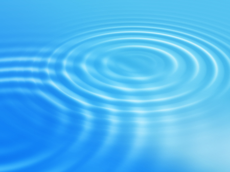 ripples: Abstract blue background with round concentric ripples