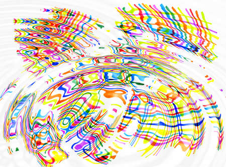 ripples: Abstract ripples background with color spots and lines Stock Photo