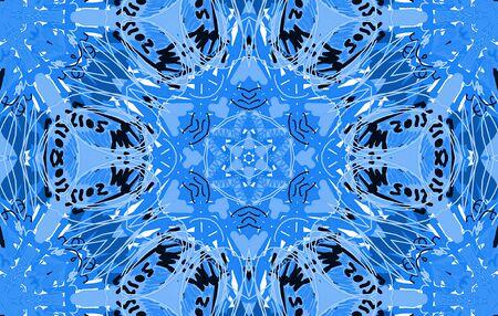 garabatos: patrón desordenado abstracto azul con garabatos y el rizo