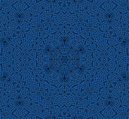 crossing tangle: Abstract background with blue concentric pattern