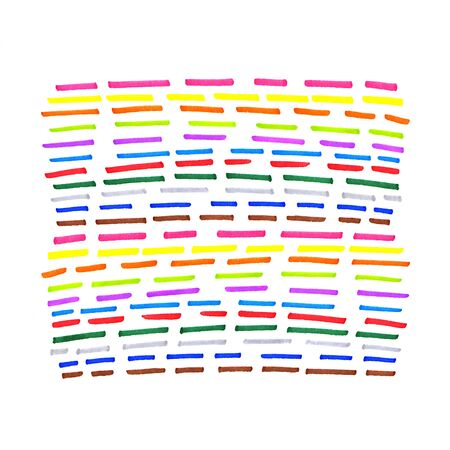 dotted line: Colorful dotted line pattern on white background Stock Photo