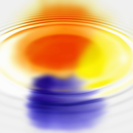 circular water ripple: Abstract background with color spots and concentric ripples Stock Photo