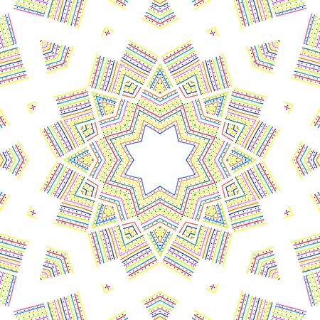 Colorful abstract pattern on white background Stock Photo