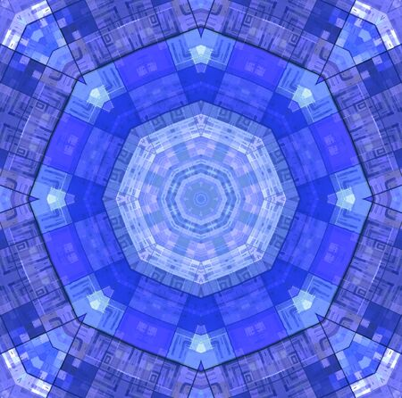 concentric: Abstract bright color concentric mosaic pattern