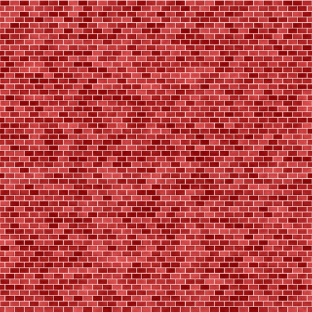 brick and mortar: Background with red brick wall seamless pattern