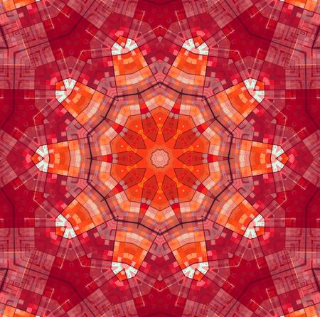 concentric: Abstract bright red concentric pattern Stock Photo