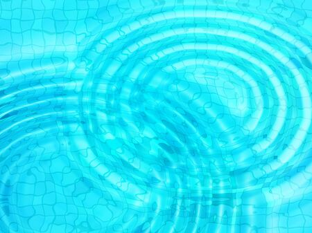 ripple effect: Bright blue tile background with concentric water ripples