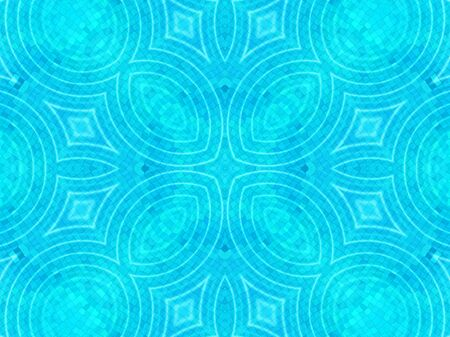 circular blue water ripple: Bright blue tile background with concentric water ripples pattern