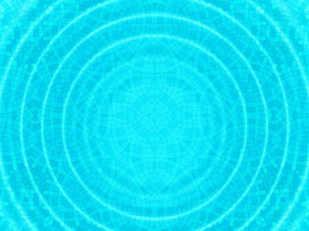 bottom line: Bright blue cell concentric pattern with round ripples Stock Photo