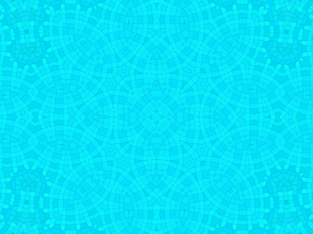 water ripple: Bright blue cell concentric pattern background