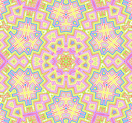 crankle: Abstract colorful concentric lines pattern on white background