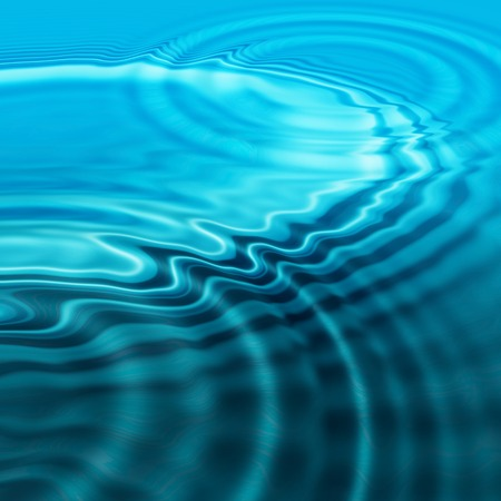 circular blue water ripple: Abstract background of splash effect on liquid surface