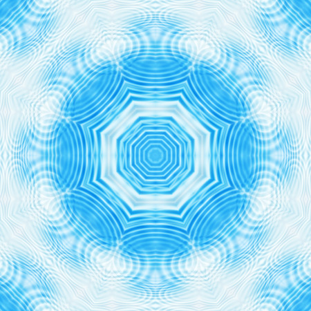 Background with abstract blue concentric pattern