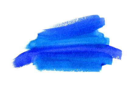 diffuse: Bright blue watercolor blot on white background, hand made drawing