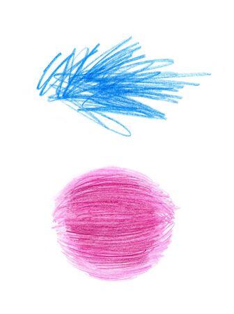 garabatos: Resumen formas de color aislado en blanco