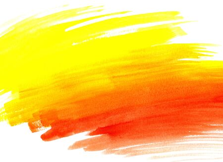 yellow paint: Bright abstract watercolor background, hand draw