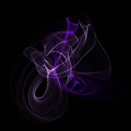 fume: Abstract lilac fume shapes on black background