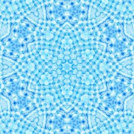 Abstract blue background with concentric pattern Stock Photo