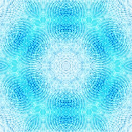 circular blue water ripple: Abstract blue background with concentric pattern Stock Photo
