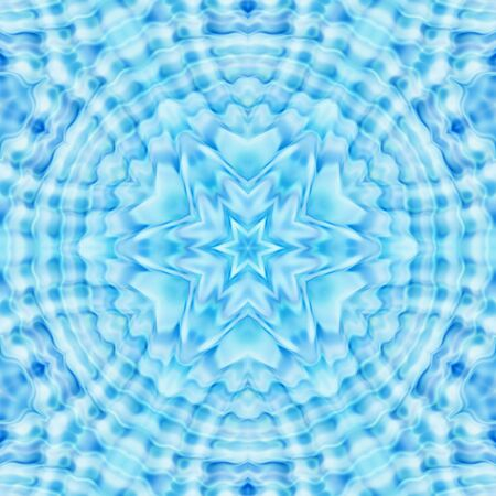 circular blue water ripple: Abstract blue background with concentric ripples pattern Stock Photo