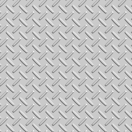 Metal diamond plate, seamless texture Stock Photo