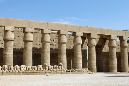 Ancient ruins of Karnak Temple in Luxor, Egypt