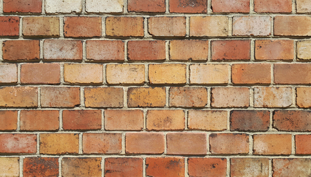 Background of old vintage brick wall texture Stock Photo