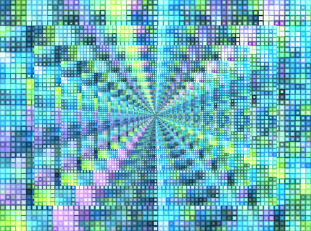 Bright motley background with mosaic pattern and infinity (recursion) effect