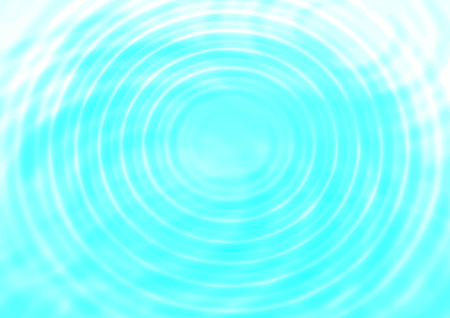 Abstract concentric water ripples blue background