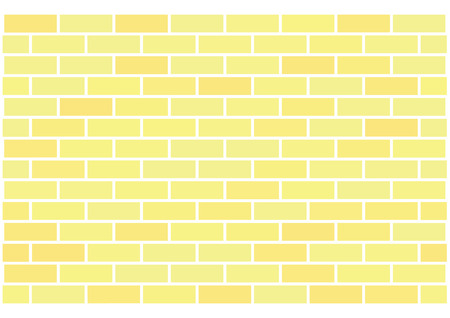 Wall of yellow bricks, abstract seamless vector background Ilustração
