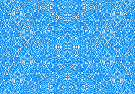 Bright blue background with abstract repeating concentric pattern