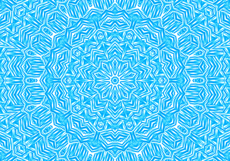 Bright blue background with abstract concentric pattern