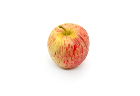 Tasty juicy apple isolated on a white background