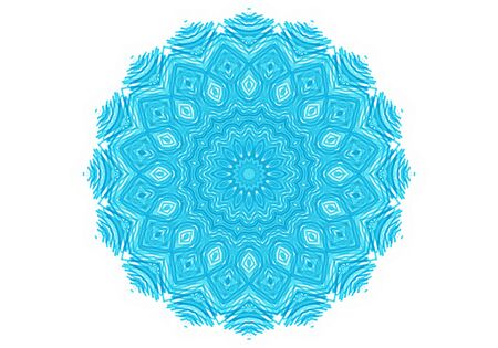 Abstract turquoise round pattern on a white background