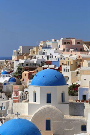 Beautiful view of Oia village on Santorini island, Greece Stok Fotoğraf
