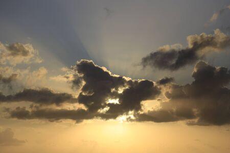 Dramatic sunset and sunrise sky natural background
