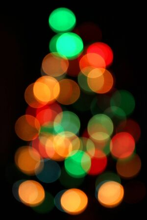 Christmas Tree, Unfocused Bright Colorful Lights Background Banque d'images - 135503661
