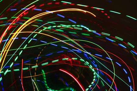 Abstract motion background with colorful bright blurred lights