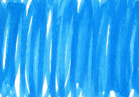 Abstract bright blue and white hand drawn background for design