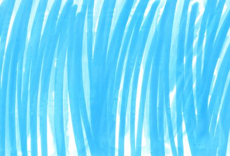 Abstract bright blue hand drawn texture on white background