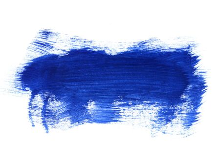 Bright blue and dark blue paint texture on white background for design, space for text, hand drawn  版權商用圖片