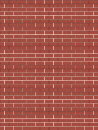 Illustration of a color brick pattern, seamless background