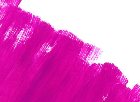 Bright pink paint texture on white background for design, space for text, hand drawn  Zdjęcie Seryjne