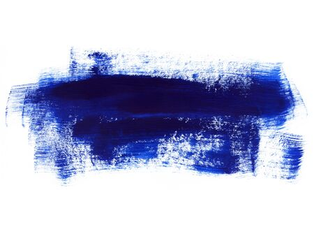 Dark blue paint texture on white background for design, space for text, hand drawn