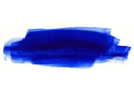 Bright blue and dark blue paint texture on white background for design, space for text, hand drawn  Zdjęcie Seryjne