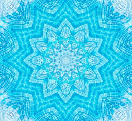 Bright blue and white background with abstract pattern Standard-Bild