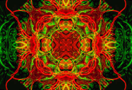 Bright abstract background with pattern from tangled threads Standard-Bild