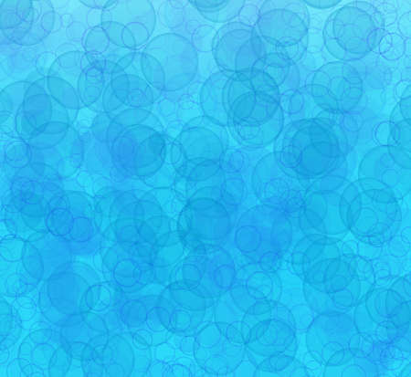Abstract pattern of transparent bubbles different sizes on blue background Standard-Bild