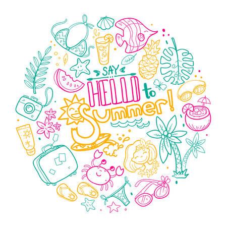 Summer round Illustration